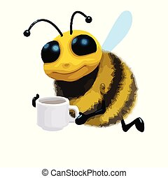 3d Tea break bee