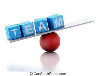 3d Team business concept