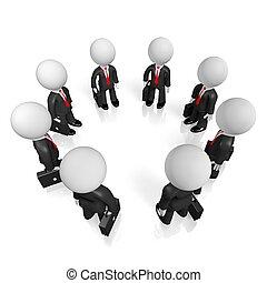 3D teamwork concept