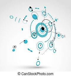 3d, technik, technologie, vektor, hintergrund., zukunftsidee, technisch, plan, in, blaues, farbe, mechanism., mechanisch, schema, dimensional, abstrakt, industrielles design, buechse, sein, gebraucht, als, website, hintergrund.