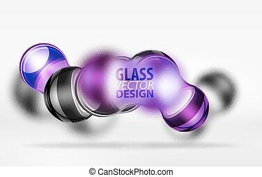 3d techno glass bubble design - Purple 3d techno glass...
