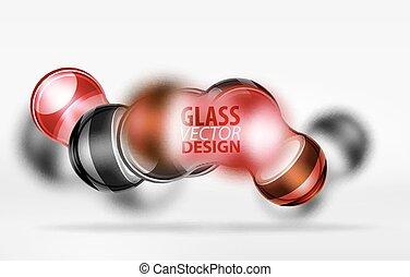 3d techno glass bubble design - Red 3d techno glass bubble...