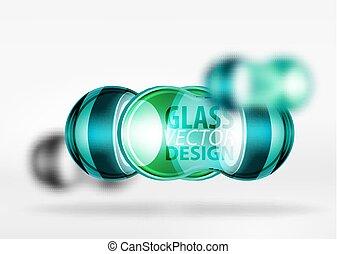 3d techno glass bubble design - Blue 3d techno glass bubble...