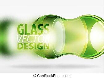 3d techno glass bubble design - Green 3d techno glass bubble...