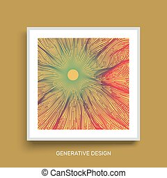 3D Technology Style. Abstract Background. Textbook, booklet or notebook mockup. Business brochure. Cover design template. Vector Illustration.