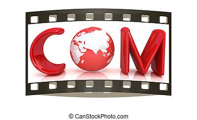 3d, tekst, com, voor, earth., de, filmen wapenbalk