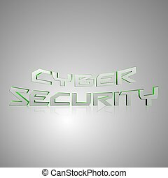 3d, tekst, cyber, veiligheid