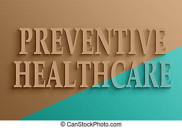 3d, tekst, van, preventieve gezondheidszorg