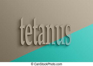 3d, tekst, van, tetanus