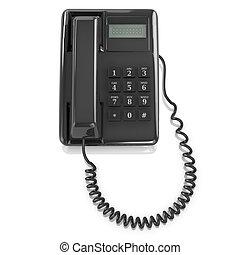 3d, telefone preto
