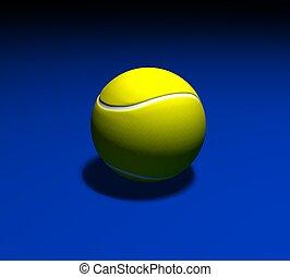 3d tennis ball on a blue background