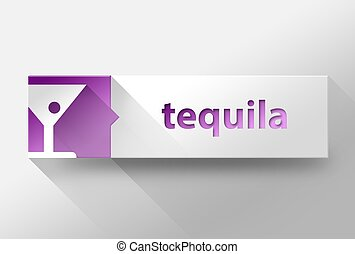 3d Tequila flat design, illustration
