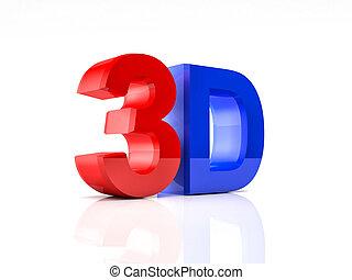 3d, testo