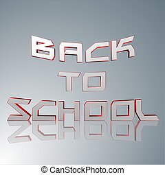 3D Text Back to school - 3d text for business and website...