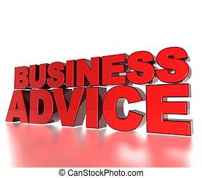 Business Advice - 3D Text Business Advice