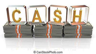 3d text cash