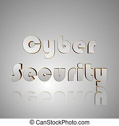 3D Text Cyber Security