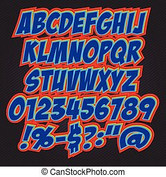 3D Text Effect style alphabet collection set.