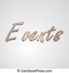 3D Text Events
