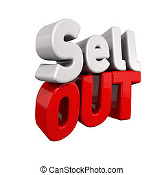 d9f6f3ea SELL OUT Stock Photoby chrisdorney0/38 Sell out - 3d text for Sell out in  red and white angled.