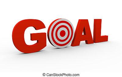 3d text goal with target