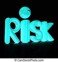 """3d text """"risk"""""""