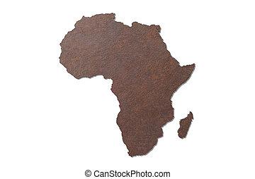 3d textured Africa map