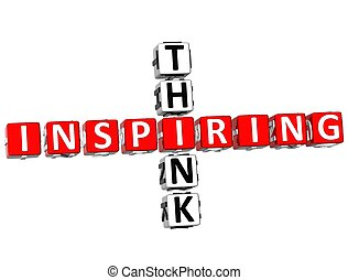 Think Inspiring Crossword - 3D Think Inspiring Crossword on...