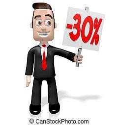 3D thirty per cent off