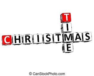 3D Time Christmas Crossword