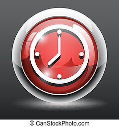 3D time clock icon