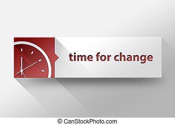3d Time for change flat design, illustration