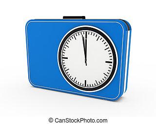 3d time glock alarm blue