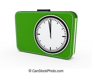 3d time glock alarm green