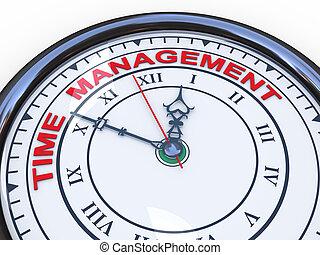 3d time management clock - 3d illustration of closeup of ...