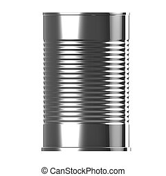 3d render of a tin can