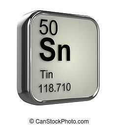 3d Tin element - 3d render of tin element design