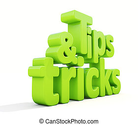 3d tips and tricks - Tips and tricks icon on a white ...
