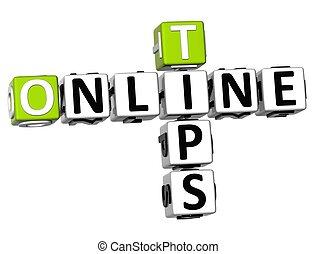 3D Tips Online Crossword