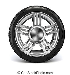 3d tire on white background
