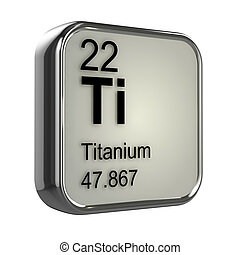 3d Titanium element - 3d render of Titanium element design