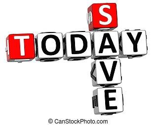 3D Today Save Crossword