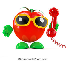3d Tomato answers the phone