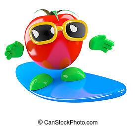 3d Tomato surfer