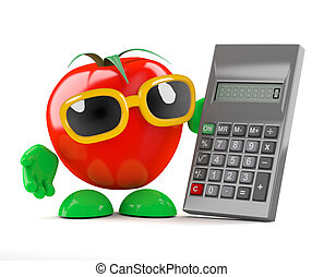 3d Tomato uses a calculator