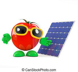 3d Tomato uses solar power