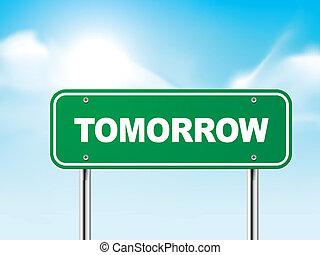3d tomorrow road sign