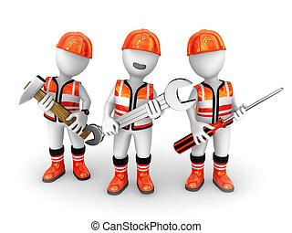 3d, tools., budowniczowie
