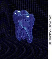 3d tooth - computer generated 3d tooth