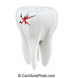 3D toothache concept